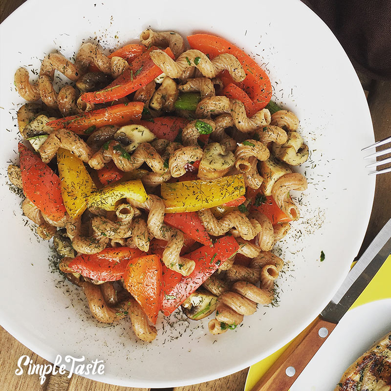 Vollkorn-Spirelli mit Grillgemüse